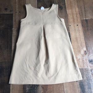 Gap Kids Ponte Knit Dress Front Pleat Girls S 6-7